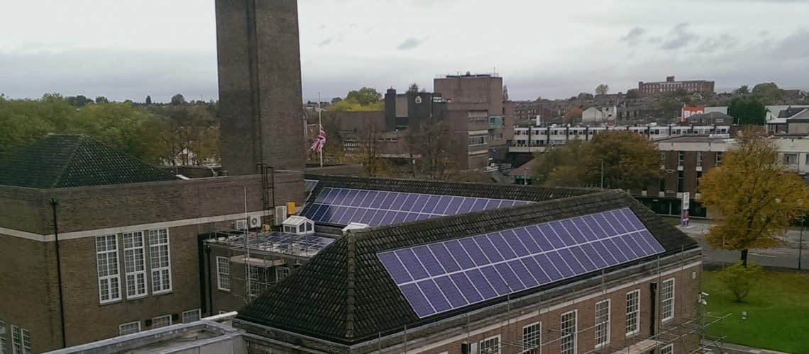 Salford Town Hall Solar PV